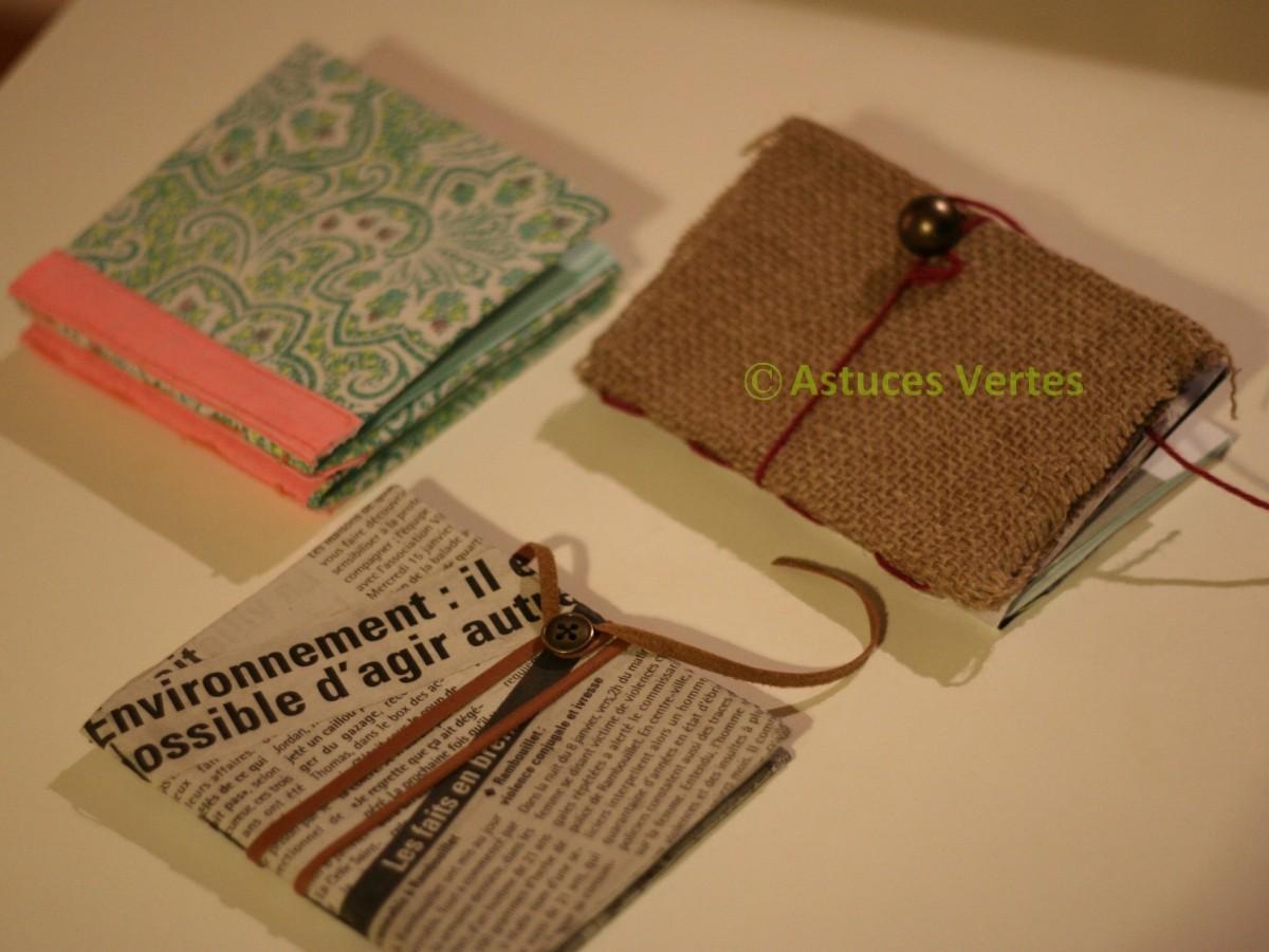 Fabriquer un petit carnet personnalis les astuces vertes de kory and cie - Diy carnet personnalise ...