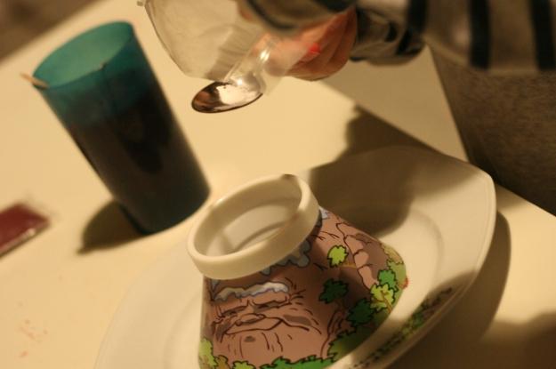 Réaslisation d'un volcan avec du bicarbonate de soude