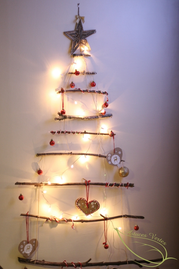 Fabriquer un sapin de no l diy les astuces vertes de for Fabrication decoration de noel