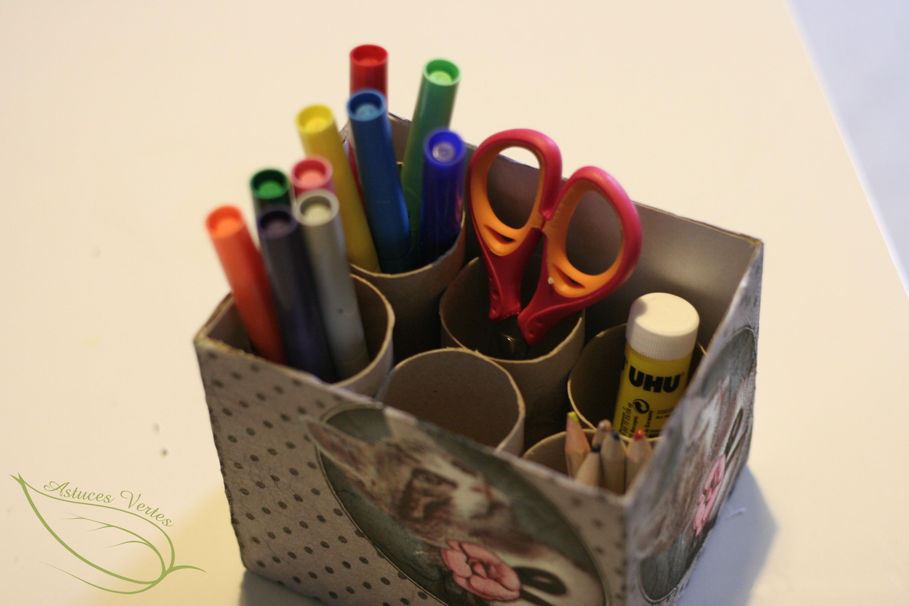 Fabriquer un organiseur de bureau récup les astuces vertes