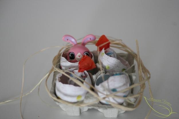 les oeufs de Pâques décorés