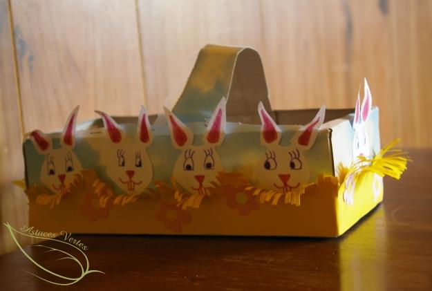 fabriquer un panier de Pâques en carton