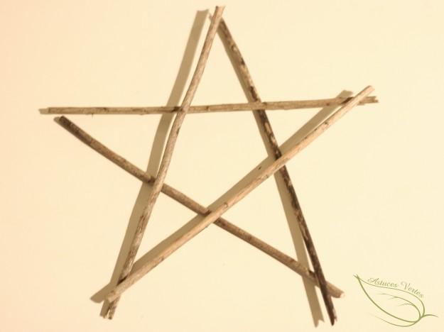 fabriquer une étoile de Nöel en bois