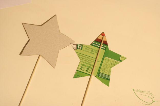 fabriquer une baguette magique en carton récup