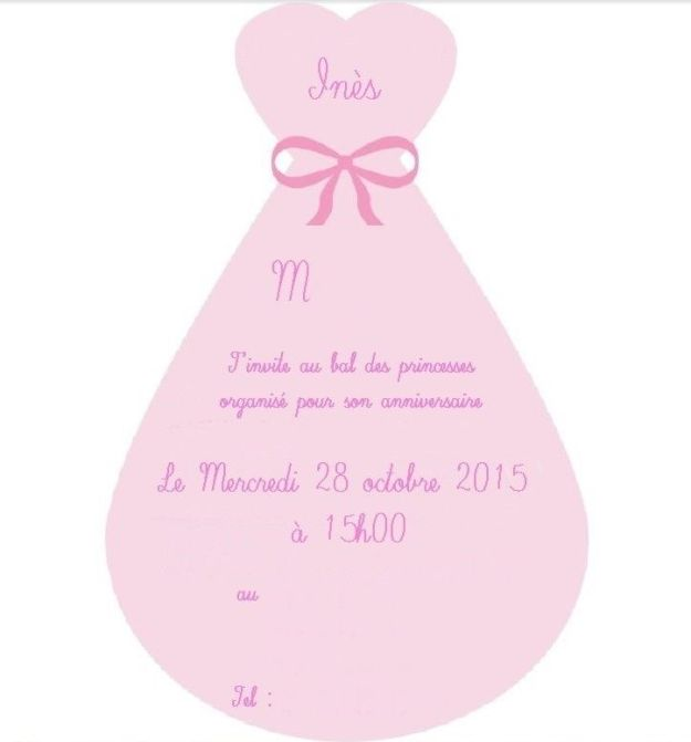 DIY carte invitation anniversaire de princesse