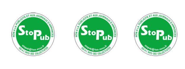 étiquette stop pub,  prospectus déchets