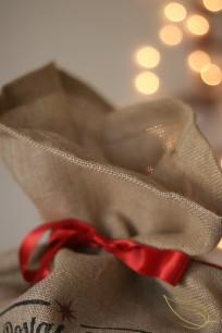 Sac à cadeaux A-Qui-S Noël zéro déchet
