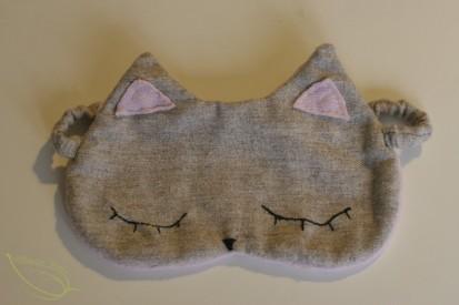 coudre un masque de nuit chat