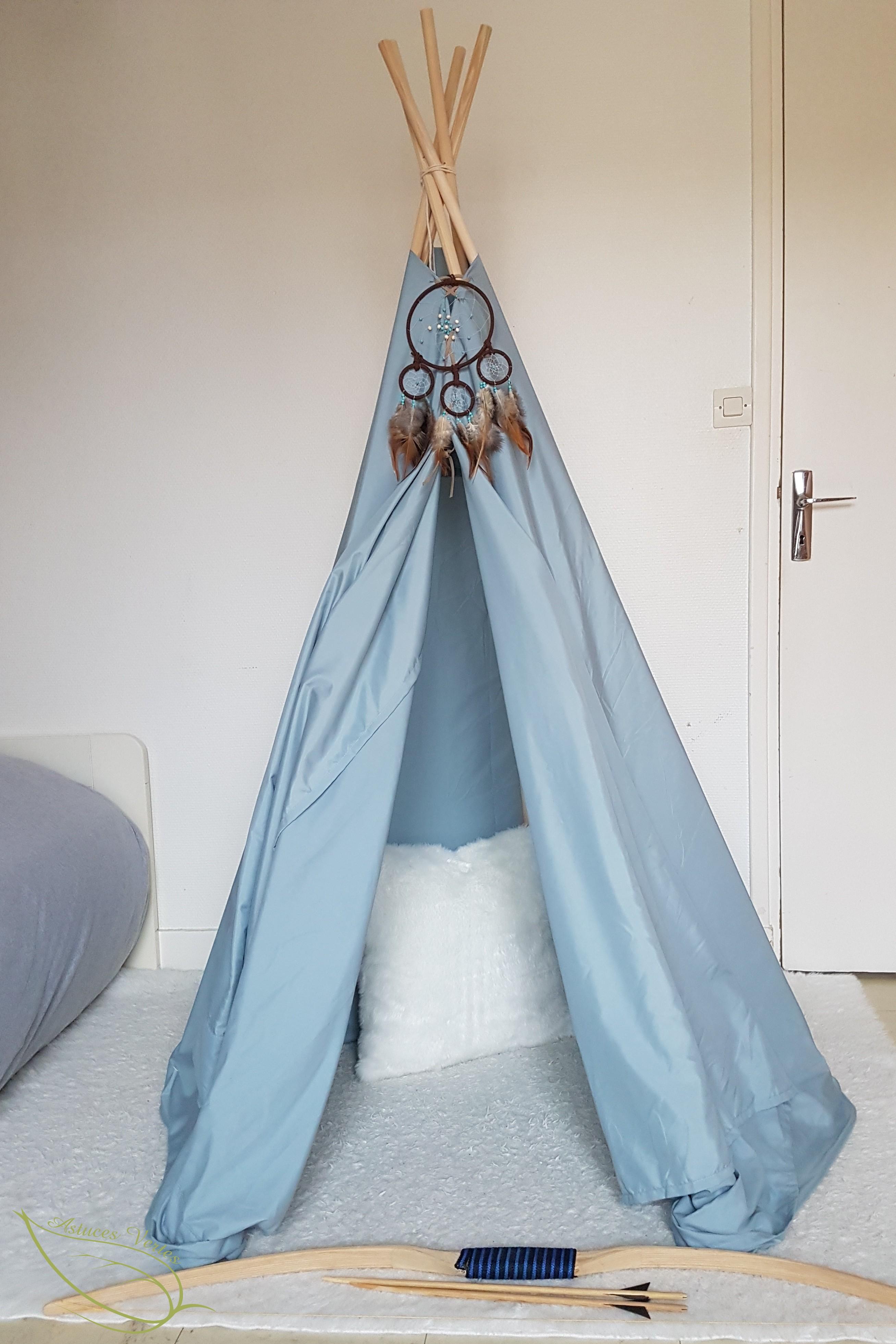 diy le tipi indien sans couture pour une chambre d enfants les astuces vertes de kory and cie. Black Bedroom Furniture Sets. Home Design Ideas